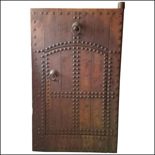 Old Oudaya Dark Tan Moroccan Door, Ring Knocker
