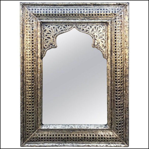 Balet II Moroccan Metal Inlaid Mirror, Marrakech