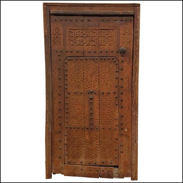 Old Mia Tan Moroccan Door, Ring Knocker