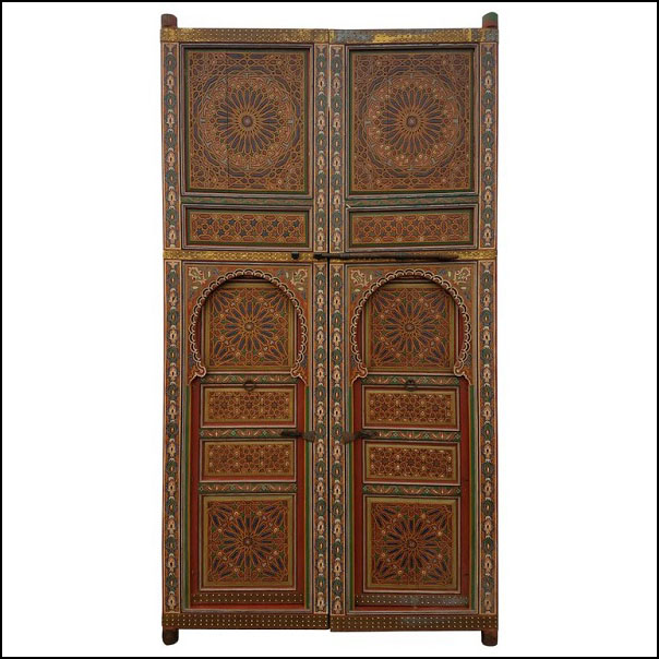 Moroccan Hand Painted Double Door – XX Tall