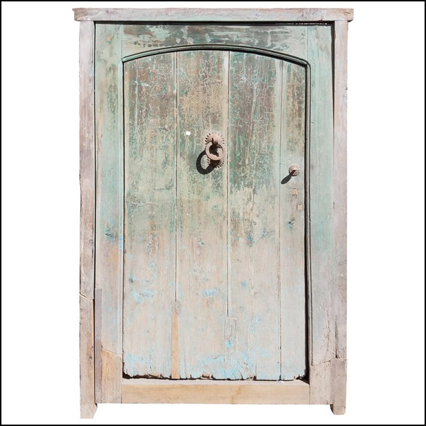 Old Dia Turquoise Moroccan Door, Old Knocker
