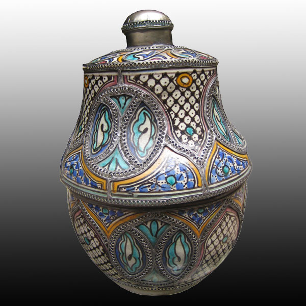 Agadir Morocco Jar with Lid