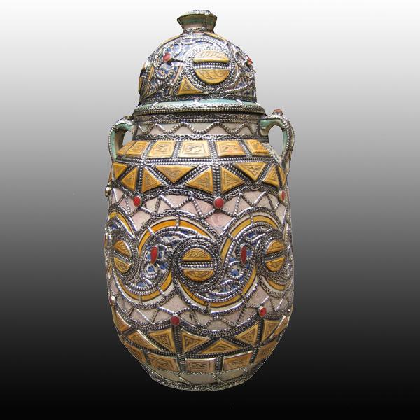 Casablanca Morocco Jar with Lid