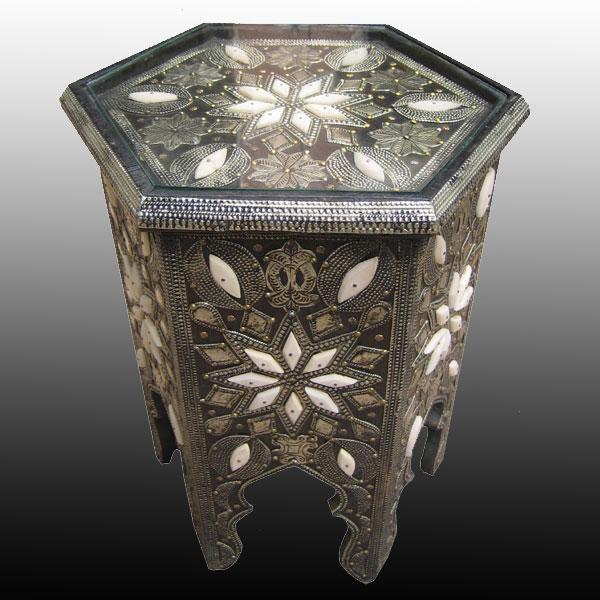 Marrakech Bone Side Table