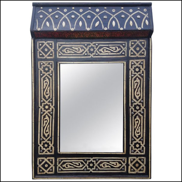 Chalet Moroccan Bone Mirror, Marrakech 1