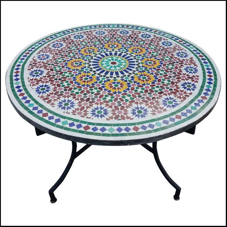 48″ Diameter Settachia 1 Moroccan Mosaic Table