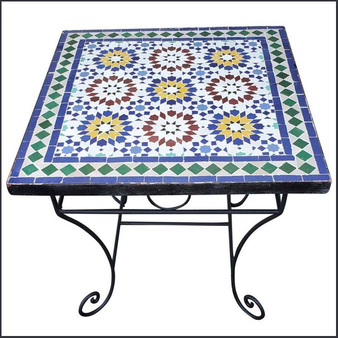 24″ Sq. Beldia Style Square Mosaic Table