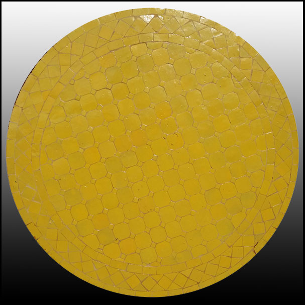 24″ All Yellow Mosaic Table Top