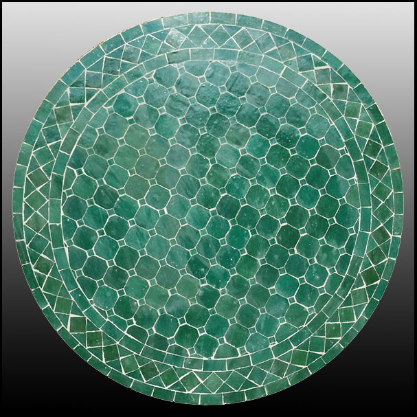 24″ All Green Mosaic Table