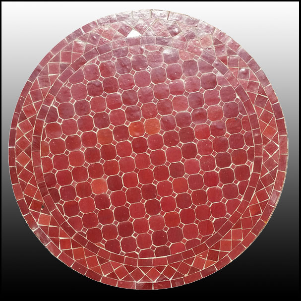 24″ All Burgundy Mosaic Table Top