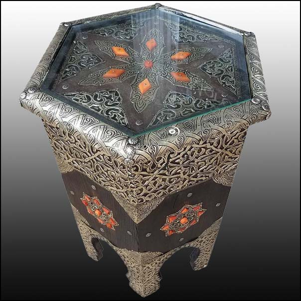 Gerda Inlaid Moroccan side table