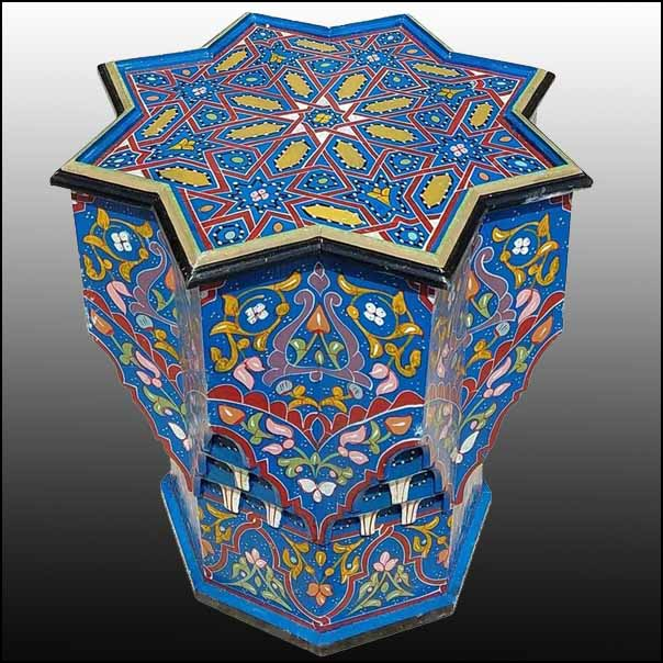 Circa All Painted Moroccan Star Table