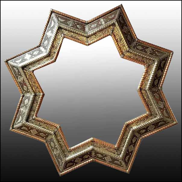 Extra Large Moroccan Star Mirror