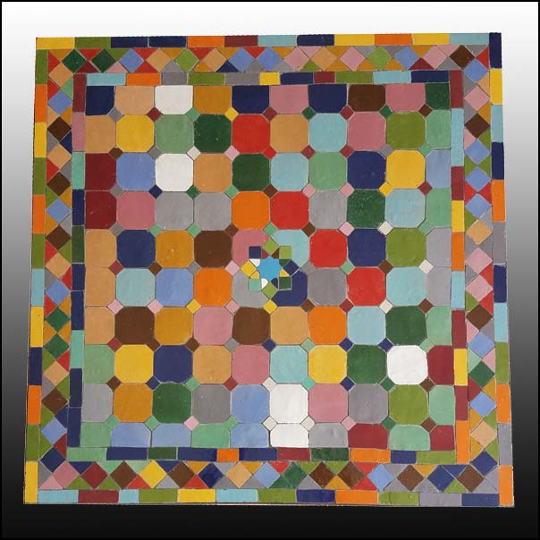 24″ Sq. Multicolor Moroccan Mosaic Table – Sampler
