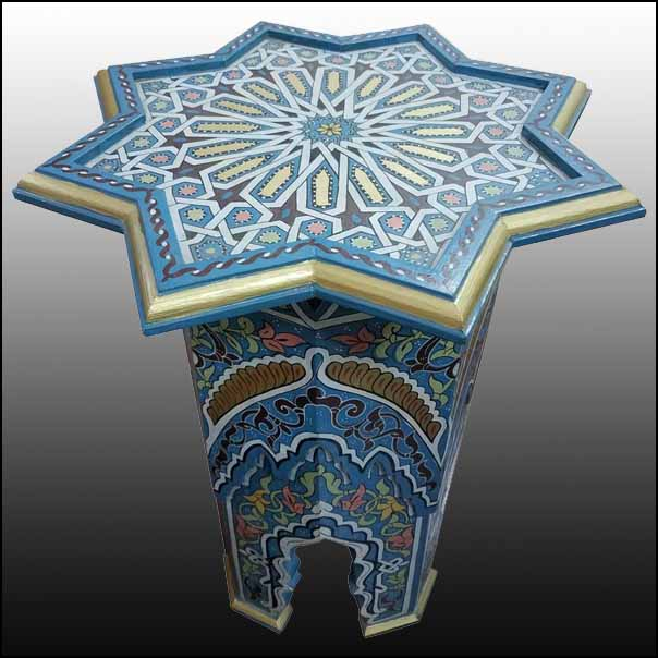 Maura All Painted Moroccan Tile Table