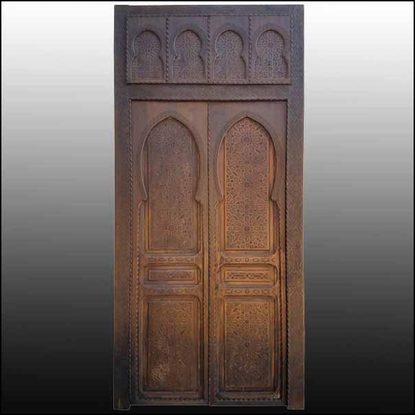 Extra Large Moroccan Cedar Wood Door, Double Panel