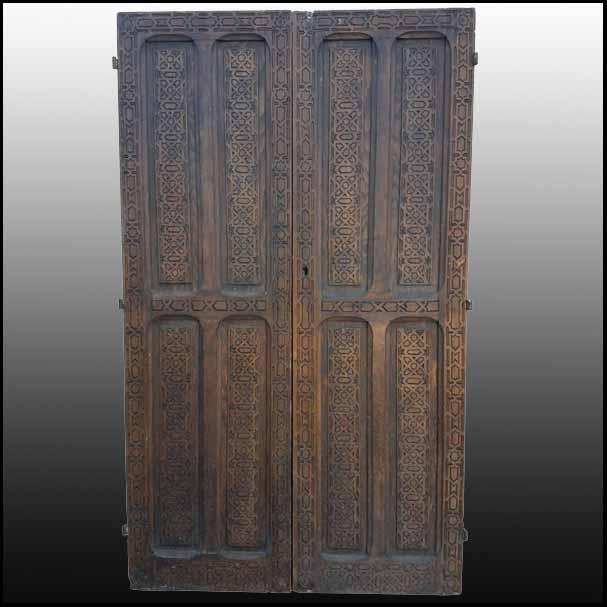 Moroccan Carved Cedar Wood Door, Exquisite