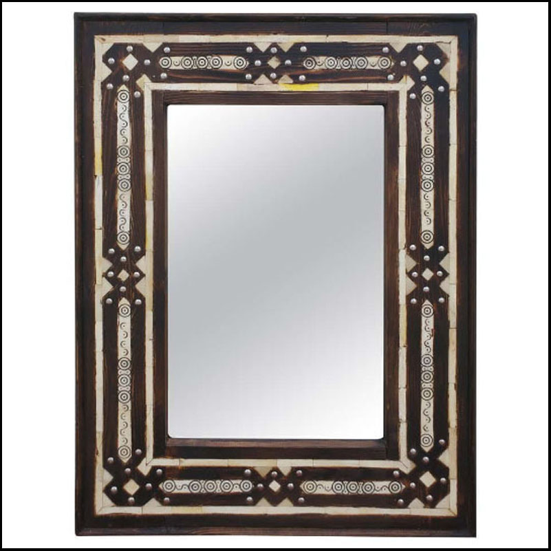 Mandarin Rectangular Inlay Mirror – Har 5
