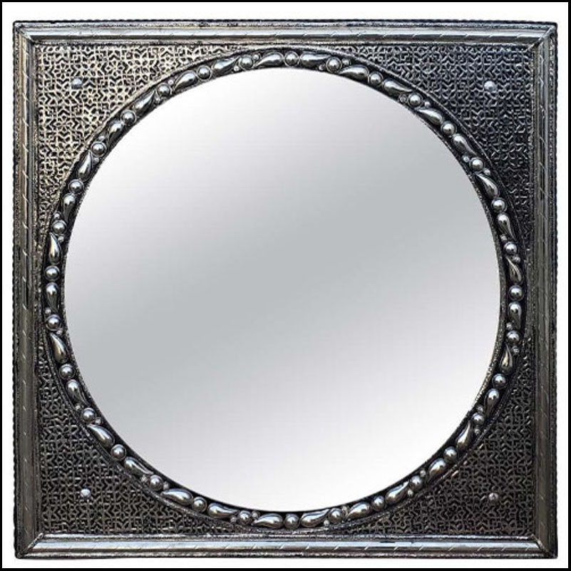Marrakech Square Metal Inlay Mirror