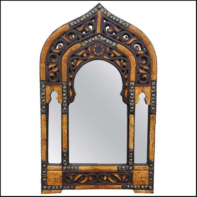 Medina Moroccan Arched Camel Bone Mirror