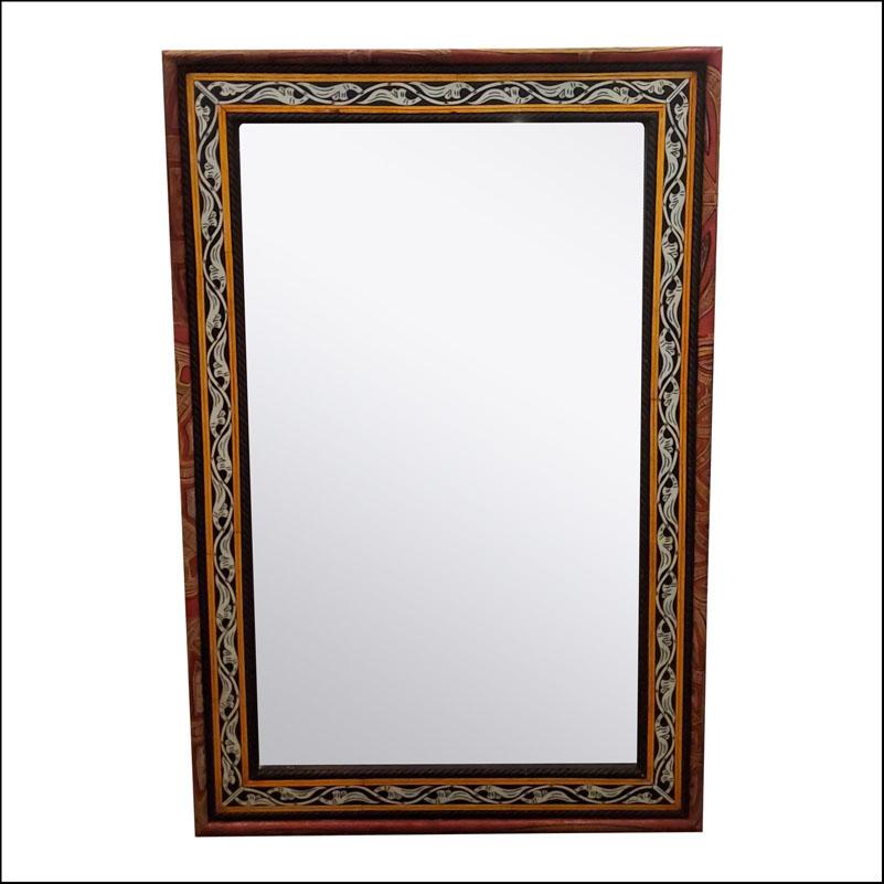Marrakech Rectangular Bone Mirror, Har 3