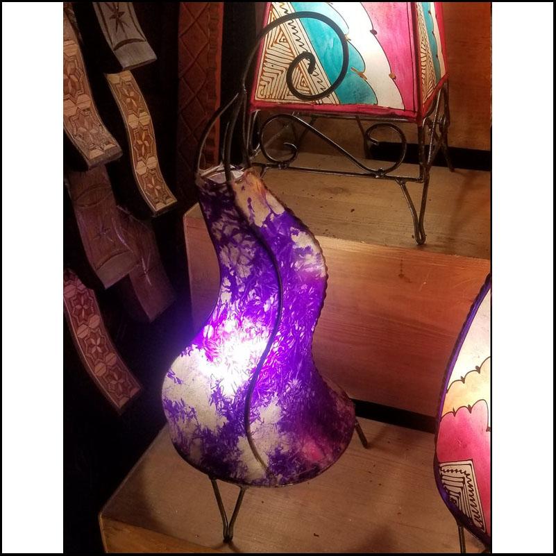 20″ Dancing Purple Moroccan Henna Lamp