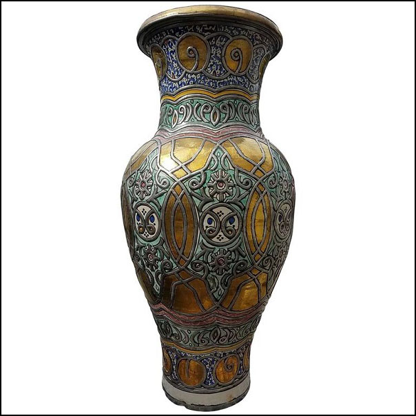 Multi-color Moroccan Vase, Pottery