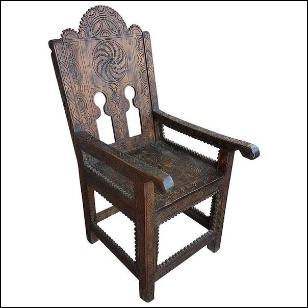 Moroccan Cedar Wood Chair