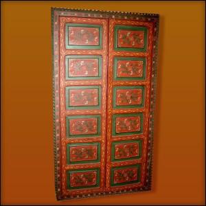 Moroccan Decorative Door Red  sc 1 st  Living Morocco & Moroccan Moorish Carved Door | Moroccan Camel Hand Painted Door pezcame.com