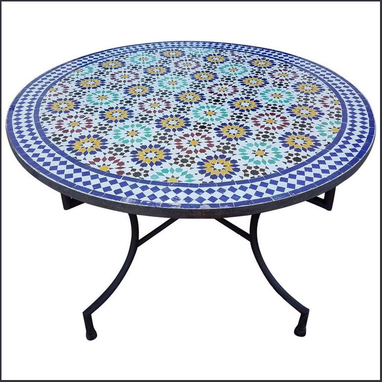 48″ Diam. Beldia Style Moroccan Mosaic Table