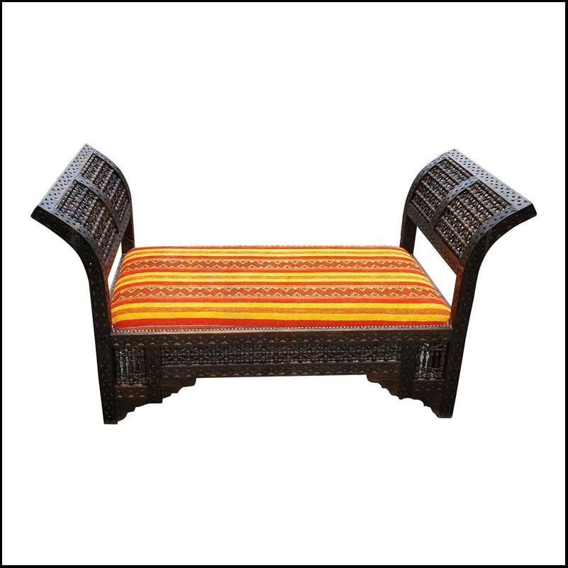 Moroccan Contemporary Cedar Wood Bench