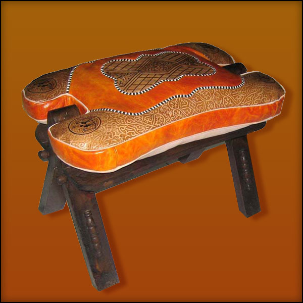 Orange / Tan Camel saddle