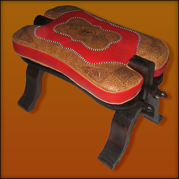 Red / Tan Camel Saddle
