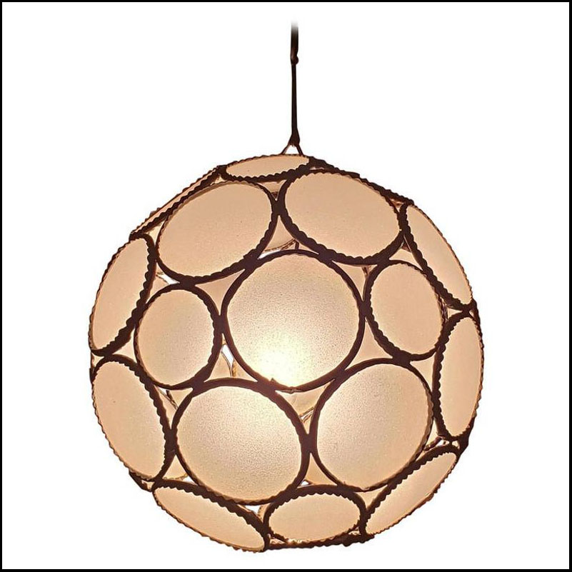 Moroccan Glass Lantern, All White Ball Style