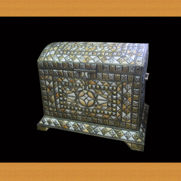 Metail Inlaid Trunk