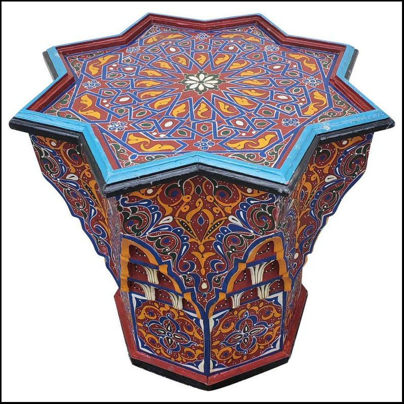 Zahra All Painted Moroccan Tile Table