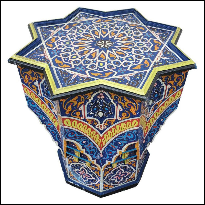 Maura Moroccan Wooden Star Table