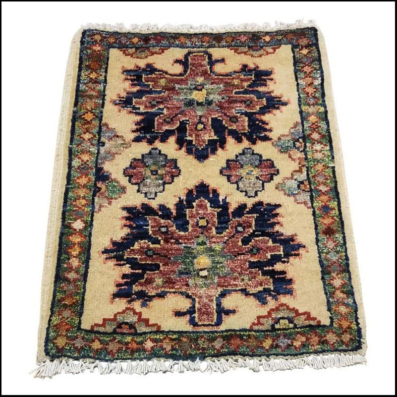 Small Asian Bedside Rug from Afghanistan – Colorful / 315