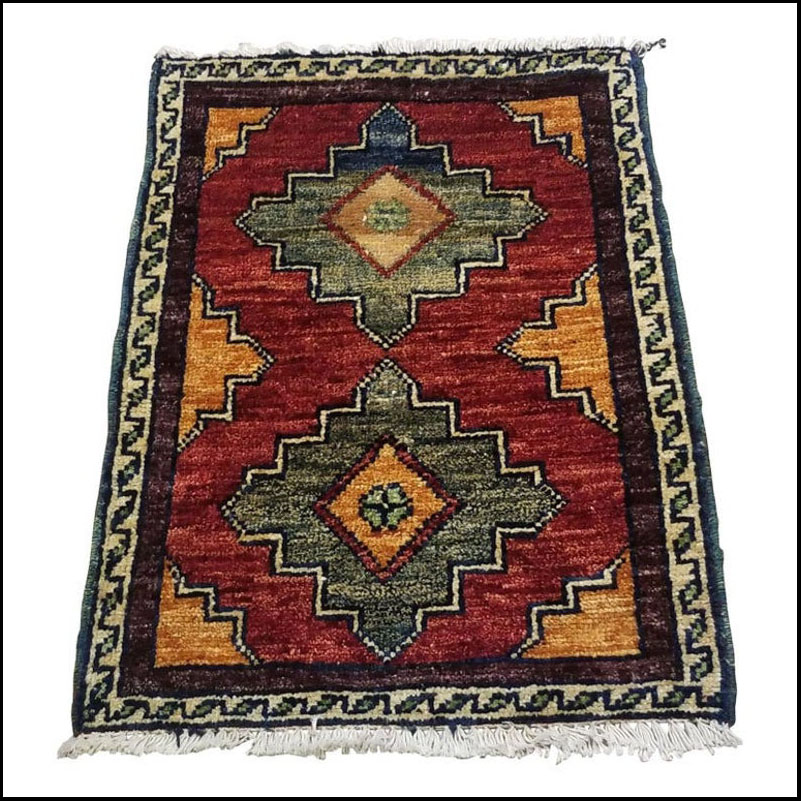 Small Asian Bedside Rug from Afghanistan – Colorful / 327