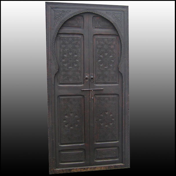 Moroccan Wooden Door Traditional