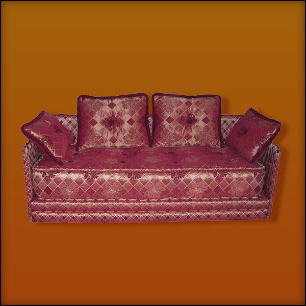 Burgundy Moroccan Sofa