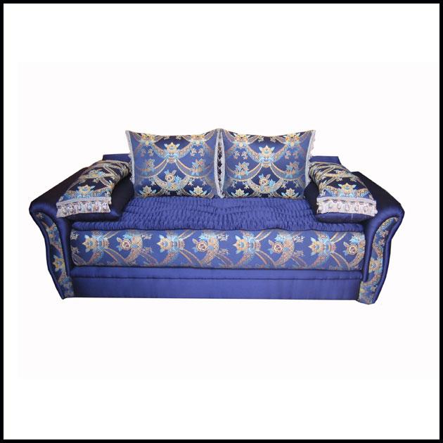 Moroccan Fabric Sofa-Blue