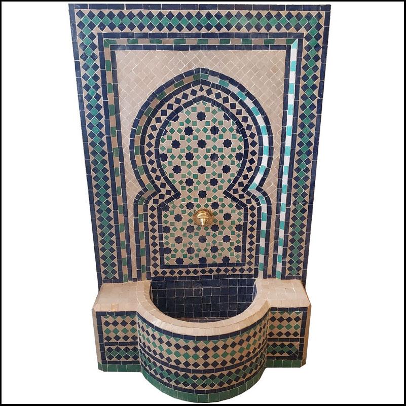 Blue / White / Aqua Moroccan Mosaic Fountain