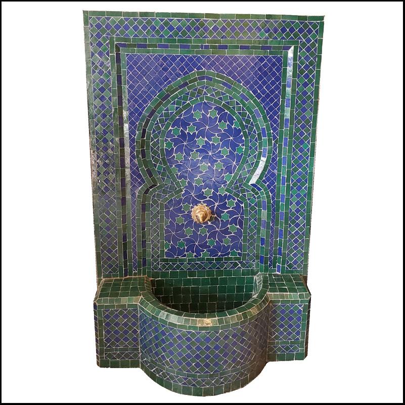Blue / Green Rafraf Moroccan Mosaic Fountain