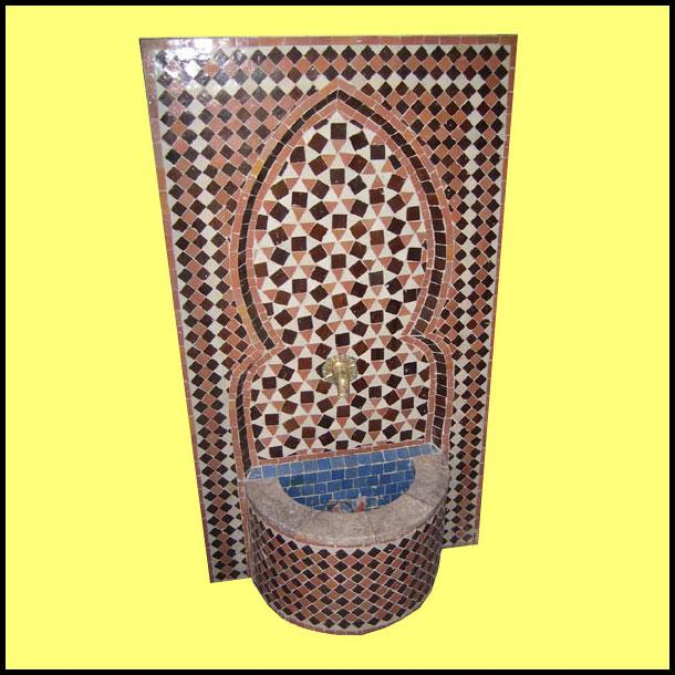 Brown / Burgundy Riad Moroccan Fountain