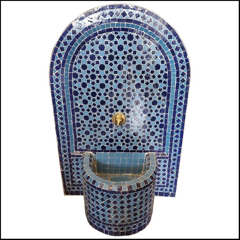 Blue / Blue Riad Moroccan Mosaic Fountain