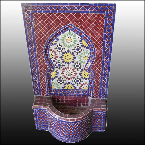 Fire Burgundy Moroccan Nosaic Fountain
