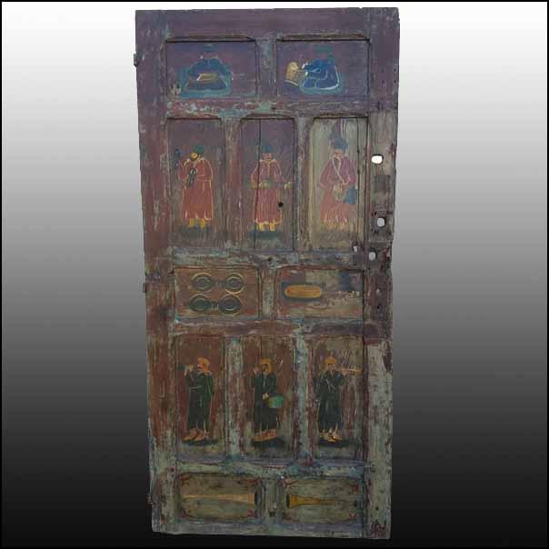 Asian Moroccan Multicolor Door Vintage