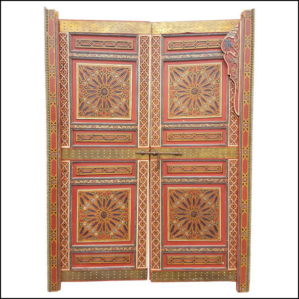 Moroccan Hand Painted Double Door – Wooden