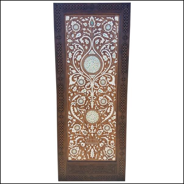 Moroccan Mother of Pearl Door – Walnut Wood